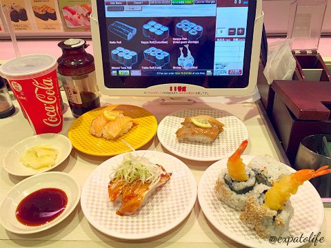 eat sushi in Japan