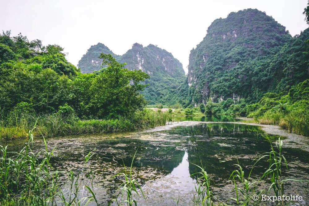 visting Trang An Ninh Binh Vietnam