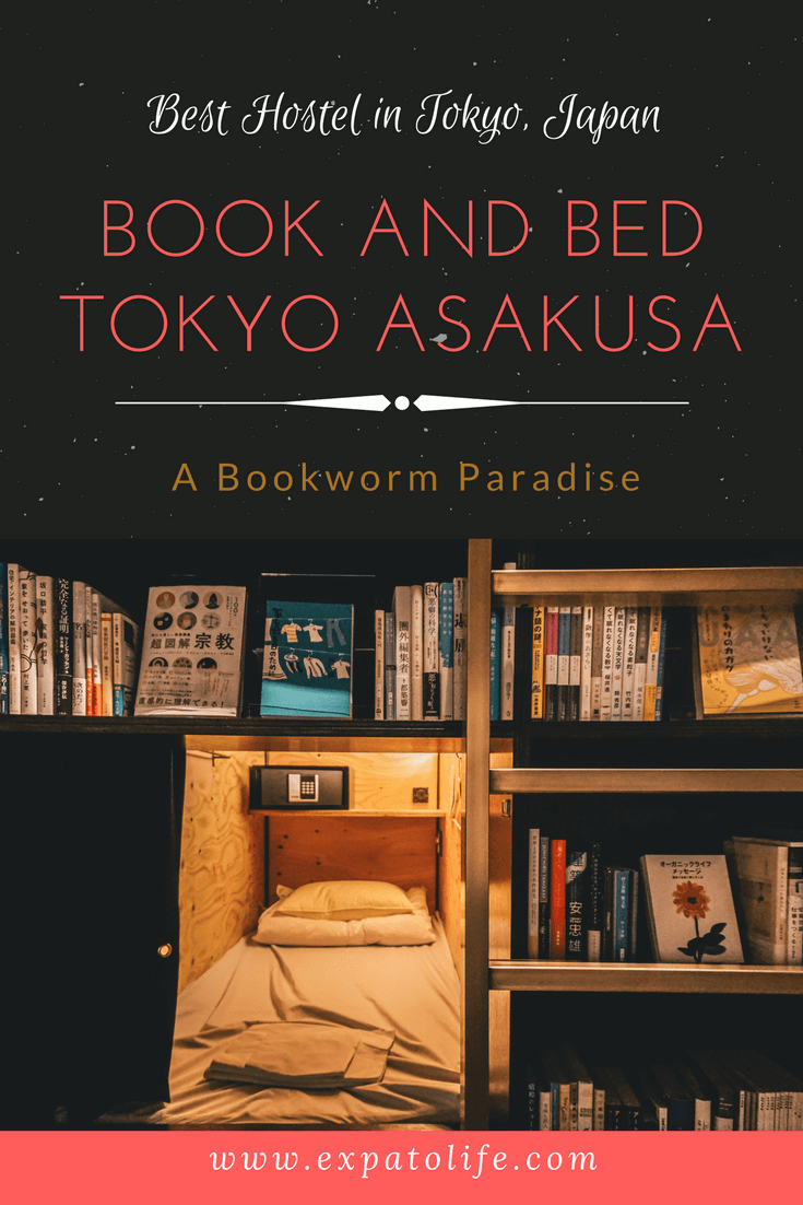 Where to stay in Tokyo, Japan on the budget for the first time? Book and Bed Tokyo Asakusa is a perfect place for book lovers and travelers who love extraordinary experience! You'll definitely want to save it in your Japan Board so you can try it when you're around the area. #tokyo #japan #hostel #accommodation #budgetfriendly #budget #budgettrip #budgetfriendlyholidays #budgettips #travel #financetips #moneytips #traveltips