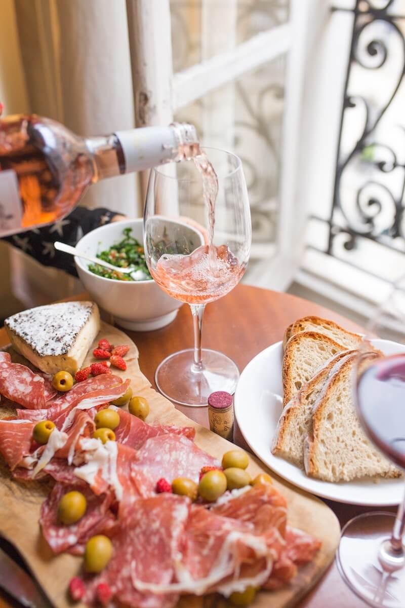 Wine and food in Paris