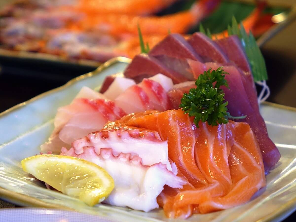 Japanese food sashimi